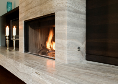 Angus Street Residence Interior Design Fireplace