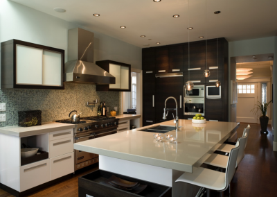 Angus Street Residence Interior Design Full Kitchen Sideview